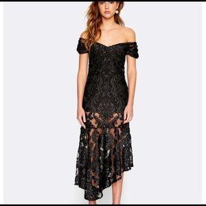 ALICE MCCALL | fleur black lace midi gown dress